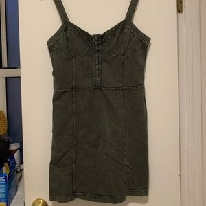 Free people olive green dress. Fits sizes 2-6.